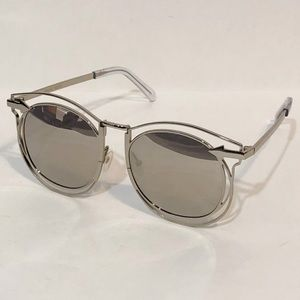 "Karen Walker ""Simone"" silver mirrored sunglasses"